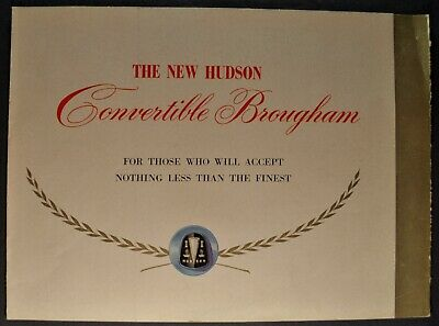 1949 Hudson Convertible Brougham Brochure Commodore Super-6 Excellent Original
