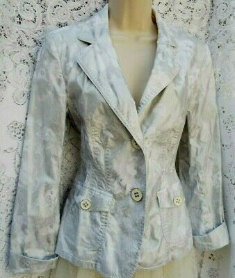 ☆BASLER Designer☆Beautiful Quality Dressy Unlined Jacket White / Silver 38 UK 12
