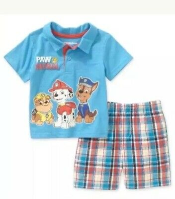 PAW PATROL  Infant Boys 2 Pc Short Outfit. Size 0-3 Months