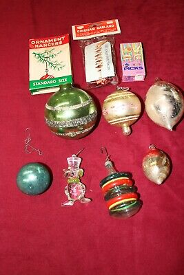 Shoe Box From The Attic - With Vintage Christmas Tree Decorations and More.