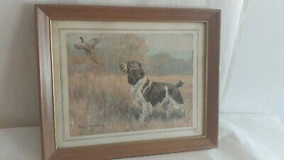 Springer Spaniel Art Framed Print Edwin Megargee 13x16 Framed Dog Hunting Dog