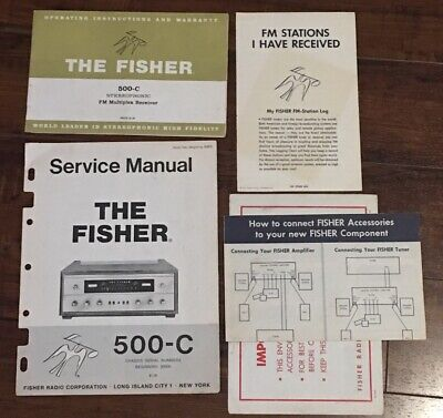 Fisher 500C Stereo Receiver Original Owners operating  Manuals