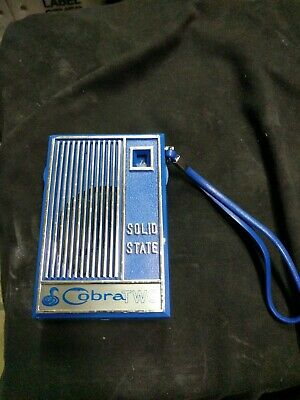Vintage COBRA TWO Solid State Transistor Radio Works!