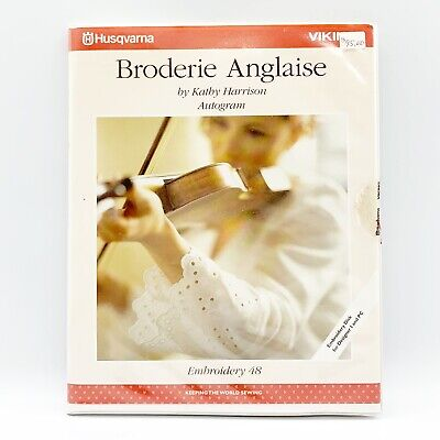 Husqvarna Viking Embroidery Designs Disks #48 Broderie Anglaise Designs Booklet