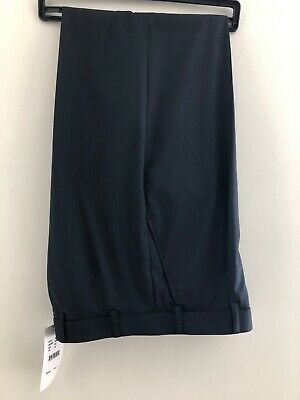 MENS Size 87 Striped Black PANTS Casual/Work Wear NNT Uniforms NEW Pleat Front