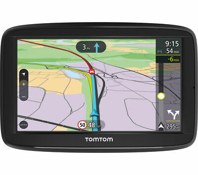 "TomTom Via 52 5"" Sat Nav UK Western Europe Lifetime Traffic Map Update Bluetooth"