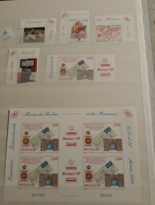 TIMBRES MONACO n°2186/2229 ANNEE COMPLETE 1999 NEUF** LUXE BLOC