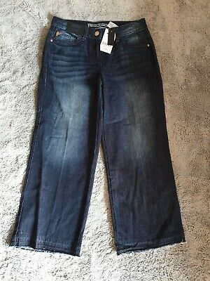 Womens Next Cropped Wide Leg Jeans Size Uk 6 Bnwt Rrp £26