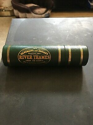 Oarsman's and Angler's Map of the River Thames 1893 in Collectible Canister