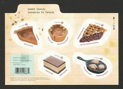 Canada 2019 Traditional Desserts Souvenir Sheet (With Receipt) Of 5 Stamps Mint