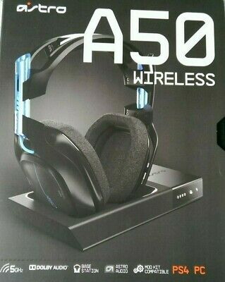 Wireless Astro A50 7.1 Black Gaming Headset for PS4 and PC - NEW and SEALED!!