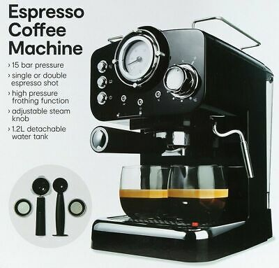Espresso Coffee Machine with Milk Frothing Function Adjustable Steam Knob NEW