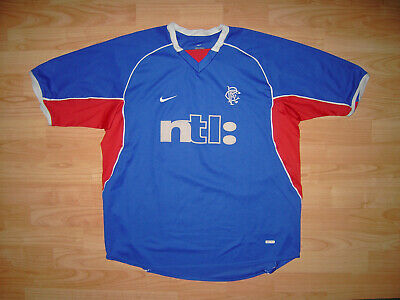 Rangers Glasgow 2001 Home Shirt Nike Size XL Scotland