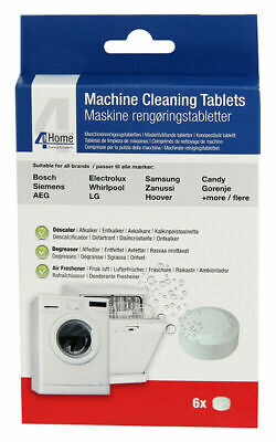 6 x Washing Machine & Dishwasher Cleaning, Descaling Tablets For Bosch, Siemens