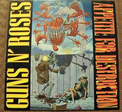 "Guns N'roses ""Appetite For Destruction""Lp 1St Press German 1987 Withdrawn Sleeve"