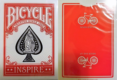 Bicycle Inspire (red) Playing Cards - Limited Marked Deck Edition – SEALED