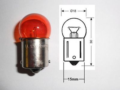 Top Quality 12 Volt 23 Watt  BA9S Amber Halogen Indicator Bulb VE00047 2-Pack