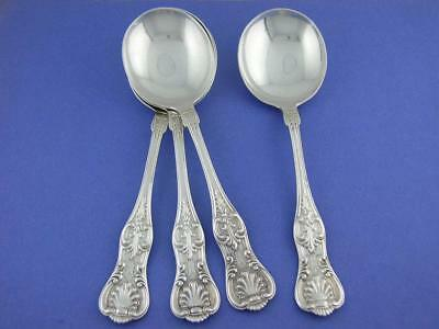 """4 Sterling DOMINICK & HAFF 6 7/8"""" Gumbo Soup Spoons KING 1880"""