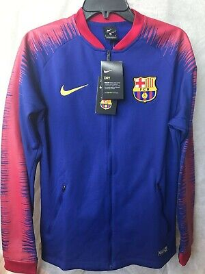 5b659a9a2 Nike FC Barcelona Anthem FC Mens Jacket Size Small Navy Red Gold 894361-456