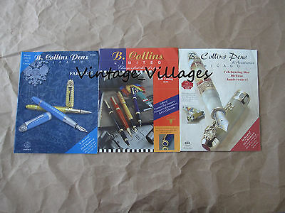 Vintage Lot of 3  B. Collins Pen Catalogs