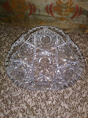 Antique Imperial Pressed Glass Candy Nut Dish