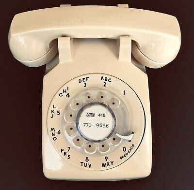 Vintage Rotary Dial Desk Phone Western Electric for Bell System 1970s Era WORKS!