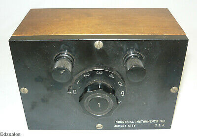 Vintage Industrial Instruments Decade Box resistance tester steampunk device