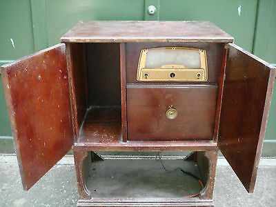 Vintage General Electric Radio & Phonograph n Original Cabinet Refinish Restore