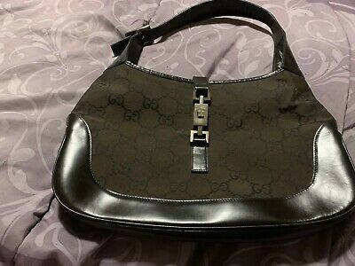 a52861be Gucci Jackie O Monogram GG Logo Canvas & Leather Hobo Bag Shoulder Bag  Handbag