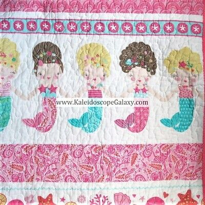 2 Pc Let S Be Mermaids Twin Quilt Set Seahorse Starfish