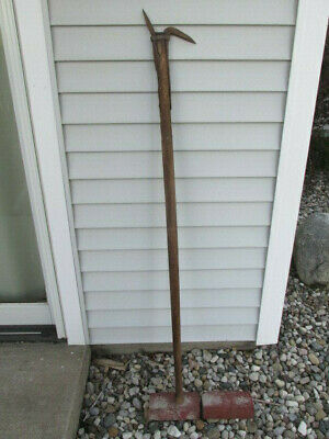 Antique Vintage Gifford Wood Co Primitive Ice Tool or Logging Pole Signed Rare