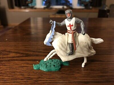 VINTAGE MEDIEVAL KNIGHTS Toy Soldiers Flexibles Articolats Horses