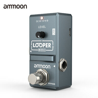 ammoon AP-09 Nano Electric Guitar Looper Effect Pedal Unlimited Overdubs 10mins