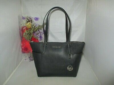 8d1b597de9d0 Michael Kors Handbag Jet Set Item E / W Top-Zip Saffiano Leather Tote Bag