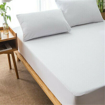 Luxury Brand New Waterproof Terry Toweling Mattress Protector Bed Coveri I