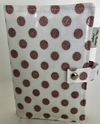 A5 Diary Covers,Nurses Diary Cover,Week To View Cover,Rose Gold Glitter Spotty