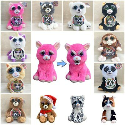 Feisty Pets - Soft Plush Stuffed Scary Face Toy Animal With Attitude Xmas Gift