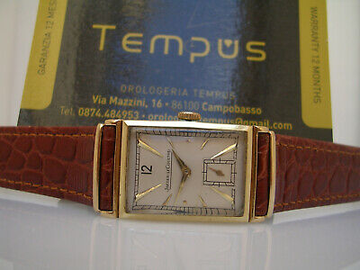 Jaeger-Lecoultre Art Deco' Curvex 14 Kt Gold Years '40 Manual Men's Watch