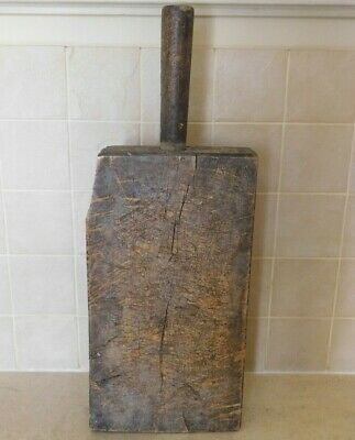 Antique French Chopping Board Heavy Solid Wood Early 1800's