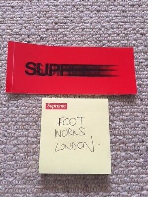 dd99f347 supreme box logo motion sticker from london shop free postage brand new  skate
