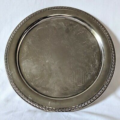 """Towle William Adams Silverplate 15"""" Serving Plate Italy Vintage"""