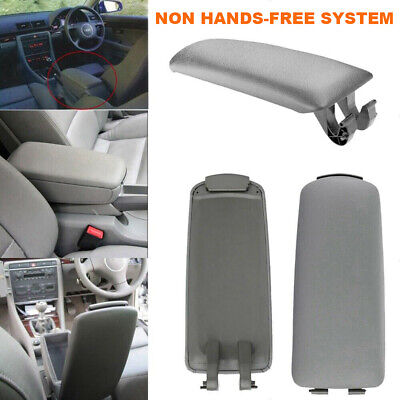 Fit 2004-2008 AUDI A4 B7 Grey Leather Armrest Center Box Console Lid Cover GR2