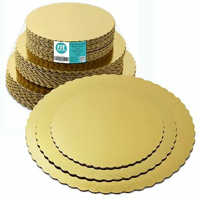 8 10 12 Inches Round Tierd Cake Boards Combo - Cardboard Disposable Layered C...