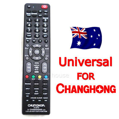 Universal TV Remote For Changhong 3D LCD LED & HD TVs Replacement Control OZ