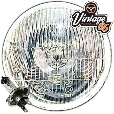 """Sealed Beam Replacement 7/"""" 178mm Halogen Headlamp /& Sidelight with Bulbs 1970-80"""