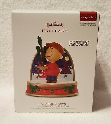 "HALLMARK ORNAMENT Charlie Brown ""A CHARLIE BROWN CHRISTMAS"" Storytellers 2018"