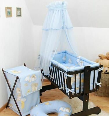 Baby Canopy/ Drape for Rocking Crib / Swinging Crib / Cradle / Moses Basket Blue