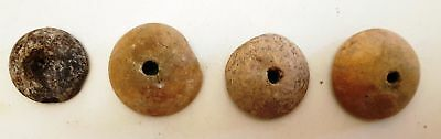 VERY RARE! Lot of 4 Museum Quality Neolithic  Stone Buttons ,circa 5000BC