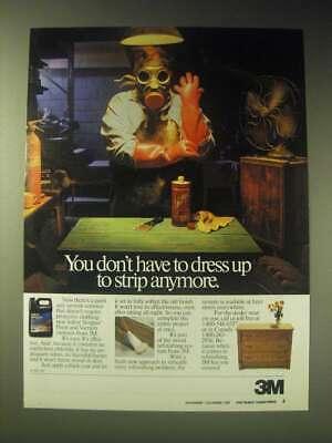 1989 3M Safest Stripper Paint and Varnish Remover Ad - don't have to dress up