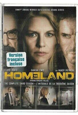 Sealed New DVD - TV Series - HOMELAND - Season 3 - Also In French